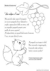 La volpe e l'uva | le news di scuola da colorare.it