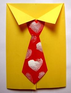 il biglietto con la cravatta per la festa del papà