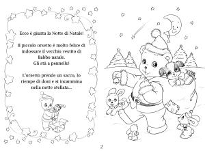 Una storia di Natale da colorare