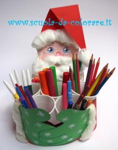 Babbo Natale Lavoretti.Lavoretto Di Natale Babbo Natale Portapenne Le News Di Scuola Da