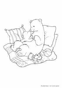 orsi disegni da colorare festa della mamma 2