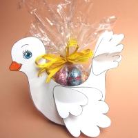 La colombella portaovetti di cioccolato - Pasqua