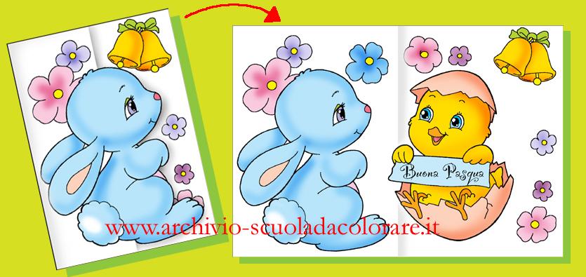 Lavoretti di pasqua per bambini biglietto d auguri del - Lettere stampabili del coniglietto di pasqua ...