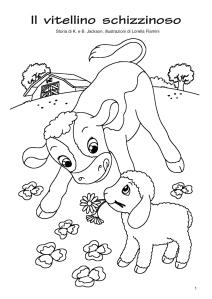 il vitellino schizzinoso da colorare