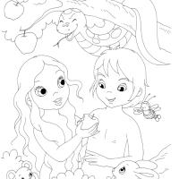 Bibbia: La Creazione - eBook per bambini da colorare
