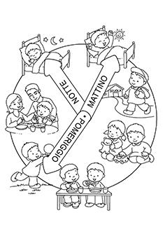 orologio della giornata scuola primaria
