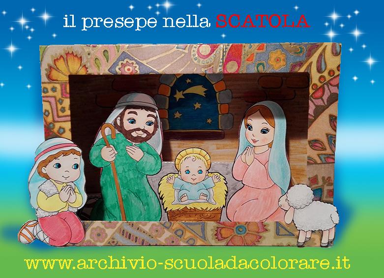 Natale il presepe nella scatola di cartone le news di - Casetta di cartone da colorare ...