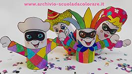 Lavoretto per carnevale i 4 pupazzetti le news di for Cartelloni di carnevale scuola primaria