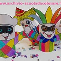 Lavoretto per Carnevale: i 4 pupazzetti