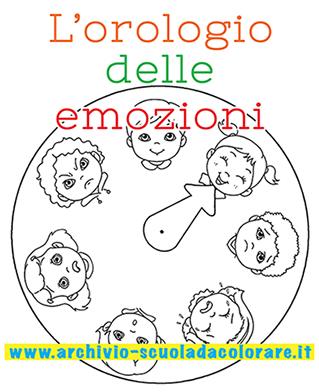 L orologio delle emozioni da colorare le news di scuola for Planimetrie delle case dei produttori di storia
