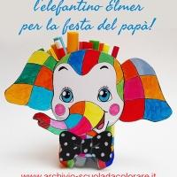 Lavoretto per la Festa del papà: l'elefantino Elmer portapenne