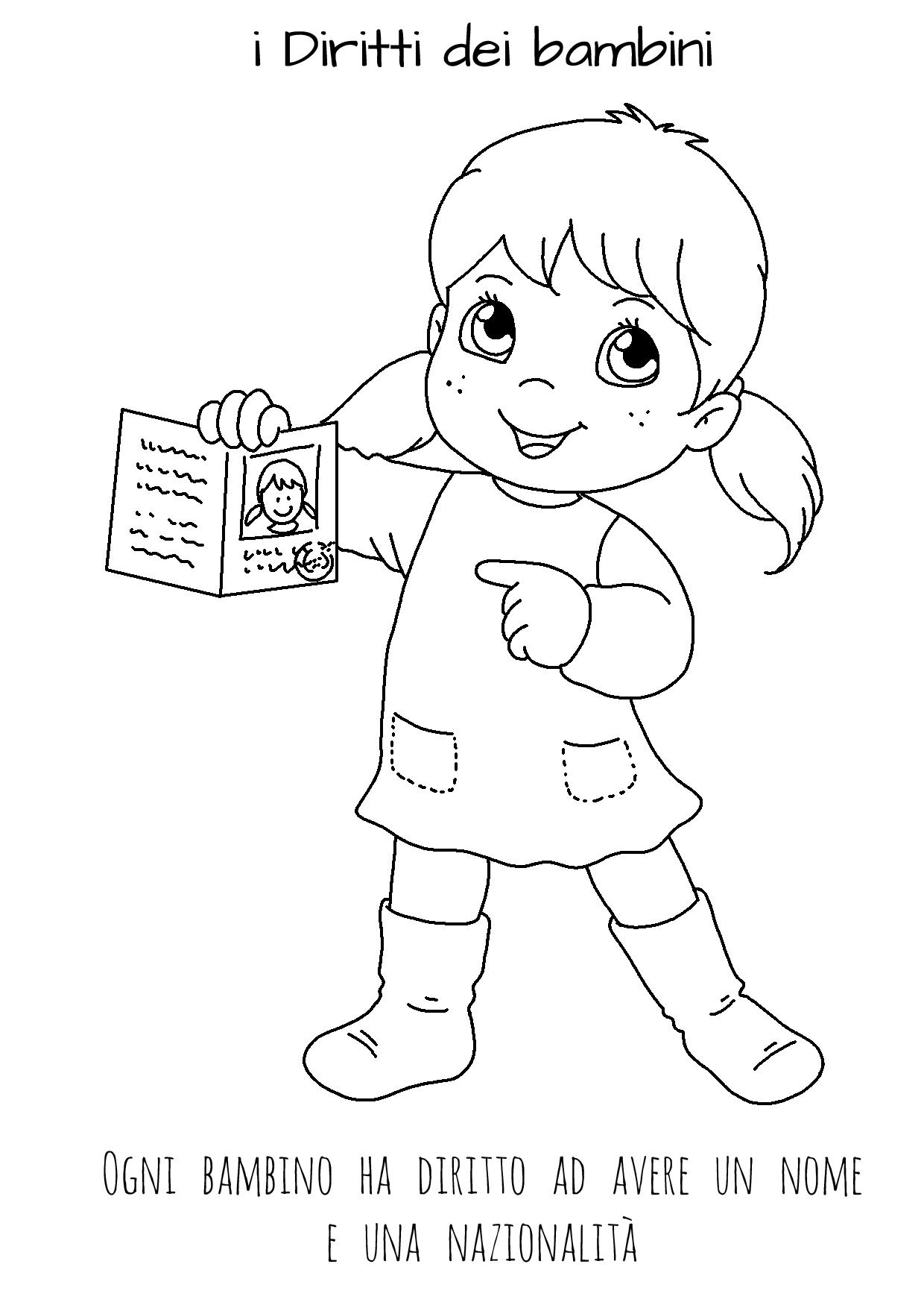 disegni da colorare sui diritti dei bambini le news di