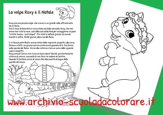 Storia di natale per bambini da colorare la volpe roxy e for Storie di natale per bambini