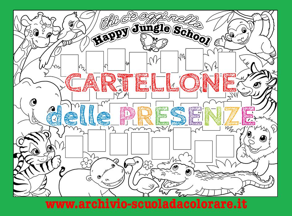 Cartellone delle presenze scuola d infanzia la happy for Cartelloni scuola infanzia
