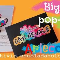 Lavoretto di Carnevale: biglietto pop-up di Arlecchino