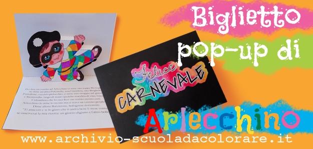presentazione arlecchino pop-up