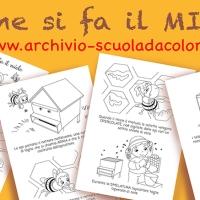 Come si fa il miele, disegni per la scuola d'infanzia