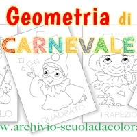Geometria disegni per la scuola d'infanzia, Carnevale