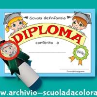 Diploma per bambini della scuola dell'Infanzia