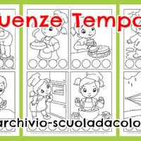 Schede didattiche sulle sequenze temporali per la scuola dell'infanzia