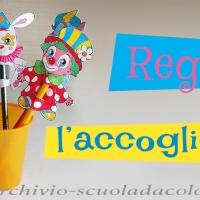 Regali per accoglienza scuola infanzia: le sagome di Clown Pucci e i suoi amici