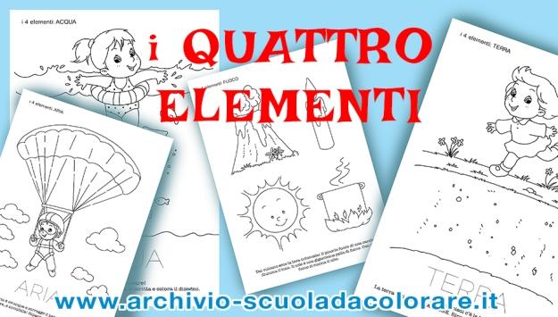Schede Didattiche Sui Quattro Elementi Per La Scuola Dellinfanzia