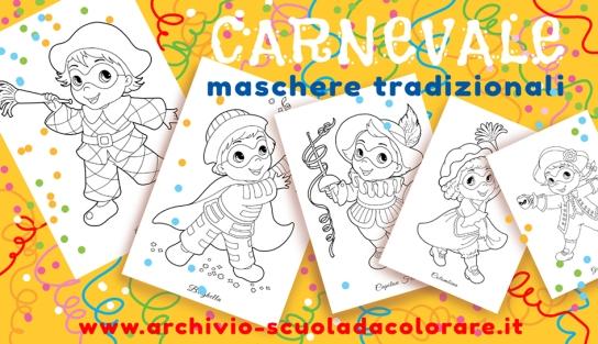 Disegni Di Carnevale Maschere Tradizionali Le News Di Scuola Da