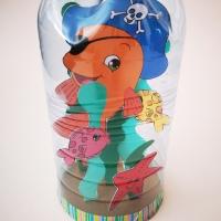 Acquario nella bottiglia: lavoretto estivo per bambini